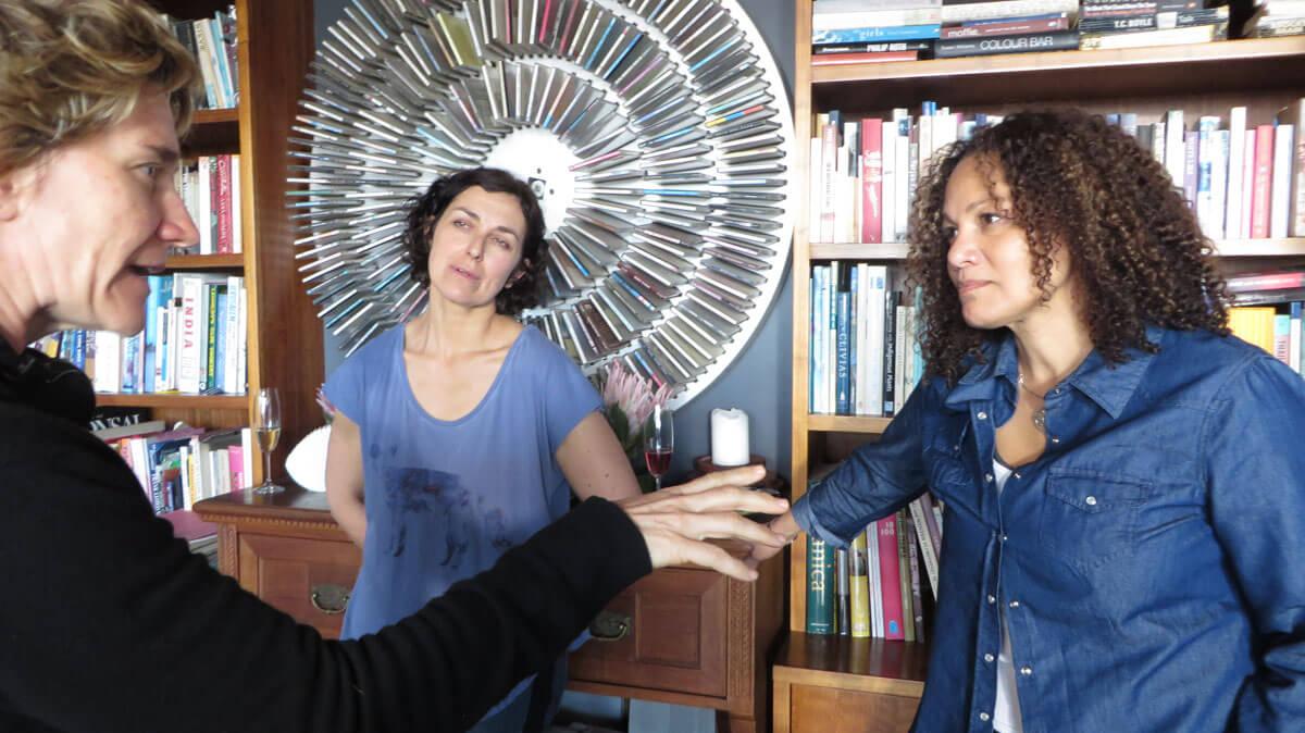 WYWL Dez & Terri's house Catherine (director) with Dez (Sandi)