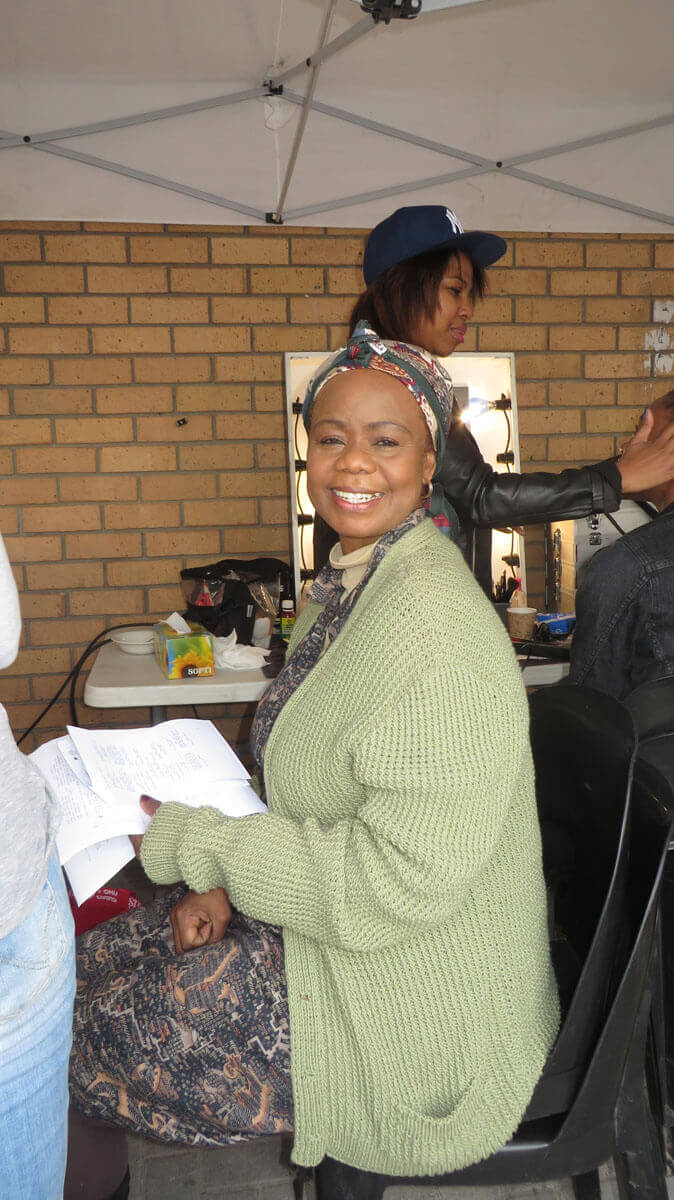 WYWL Khayalitsha Thembi Mtshali (Gogo) in make-up