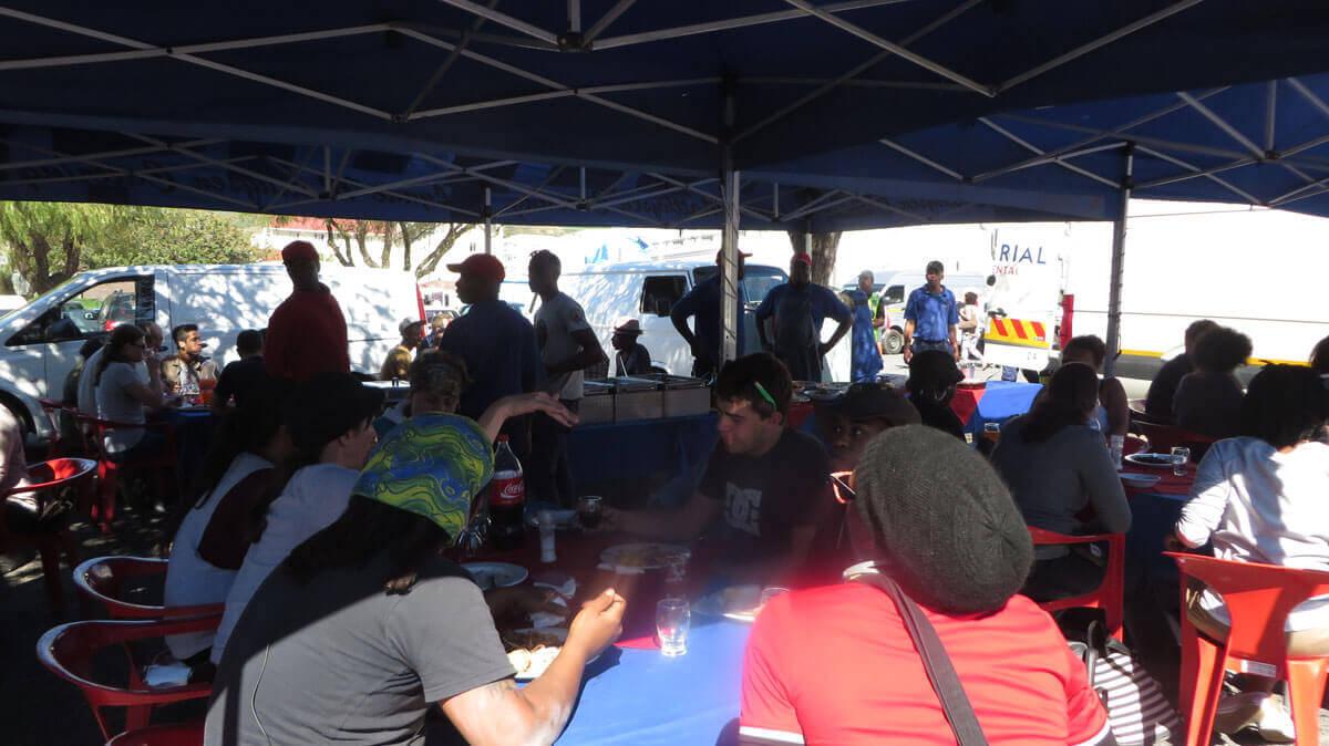 WYWL Base Camp Harrington Sq lunch time