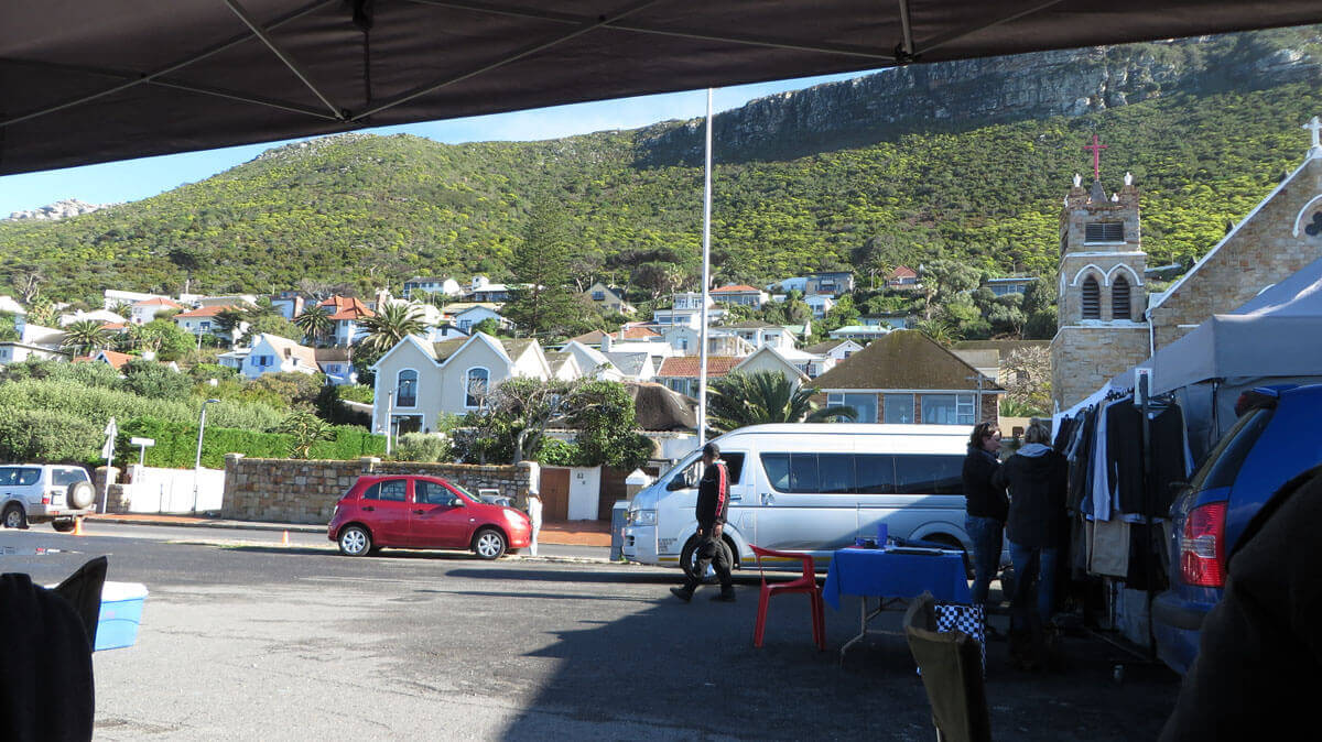 WYWL St James Passage base camp and the view from the production office