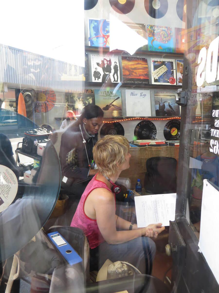 WYWL Obs Record store thru the window