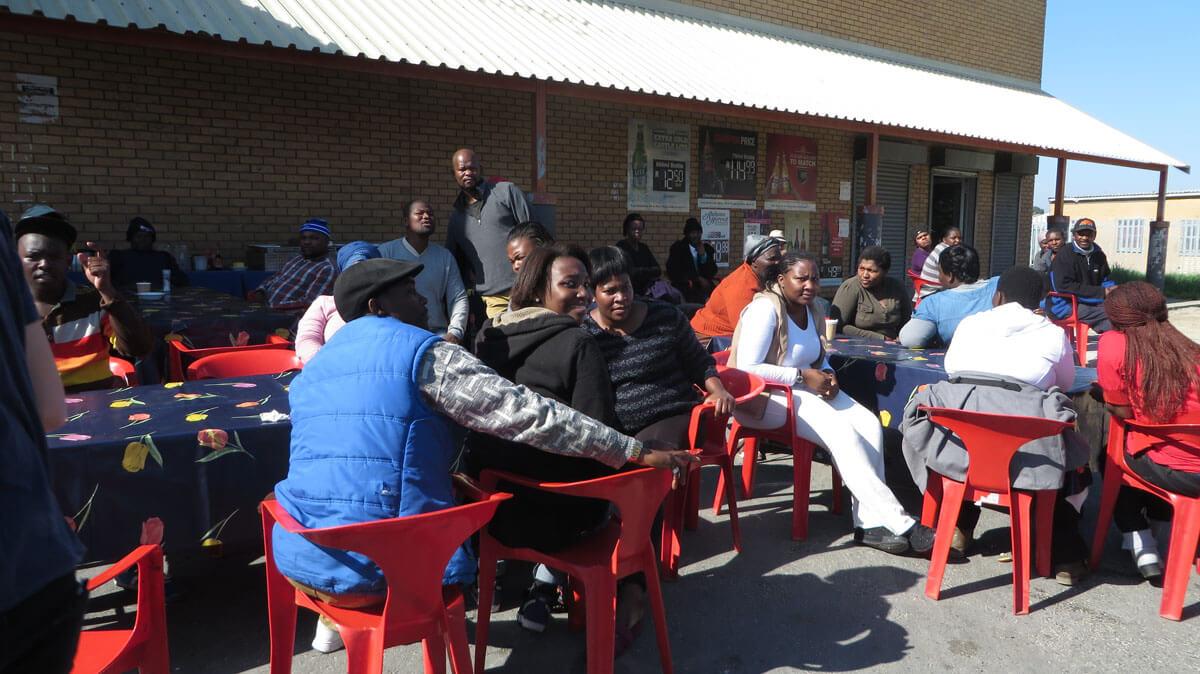 WYWL Khaylitsha Extras gather at base camp