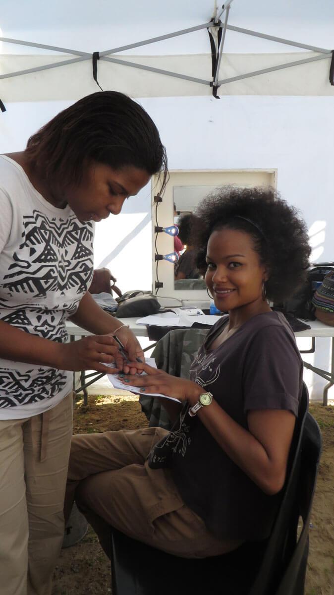 WYWL Khayaliysha Petronella Tshuma in make up with Carol