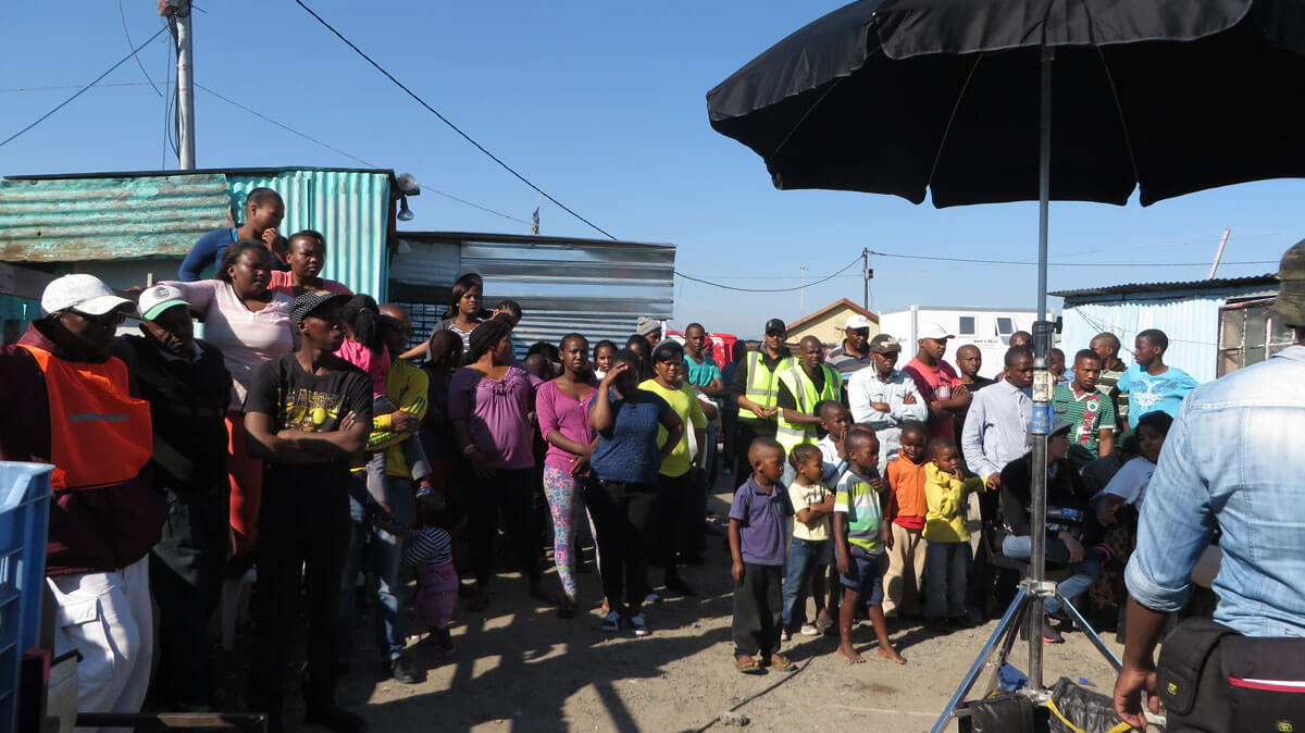 WYWL Khayalitsha some extras and a lot of onlookers