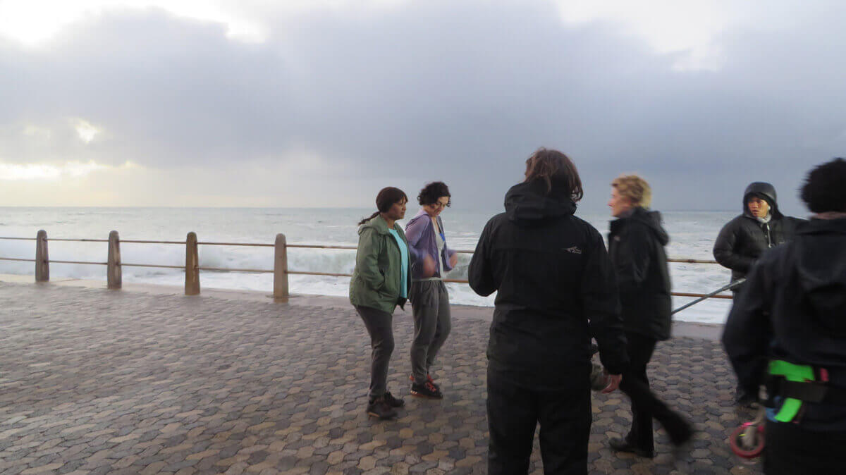 WYWL The Promenade braving the elements