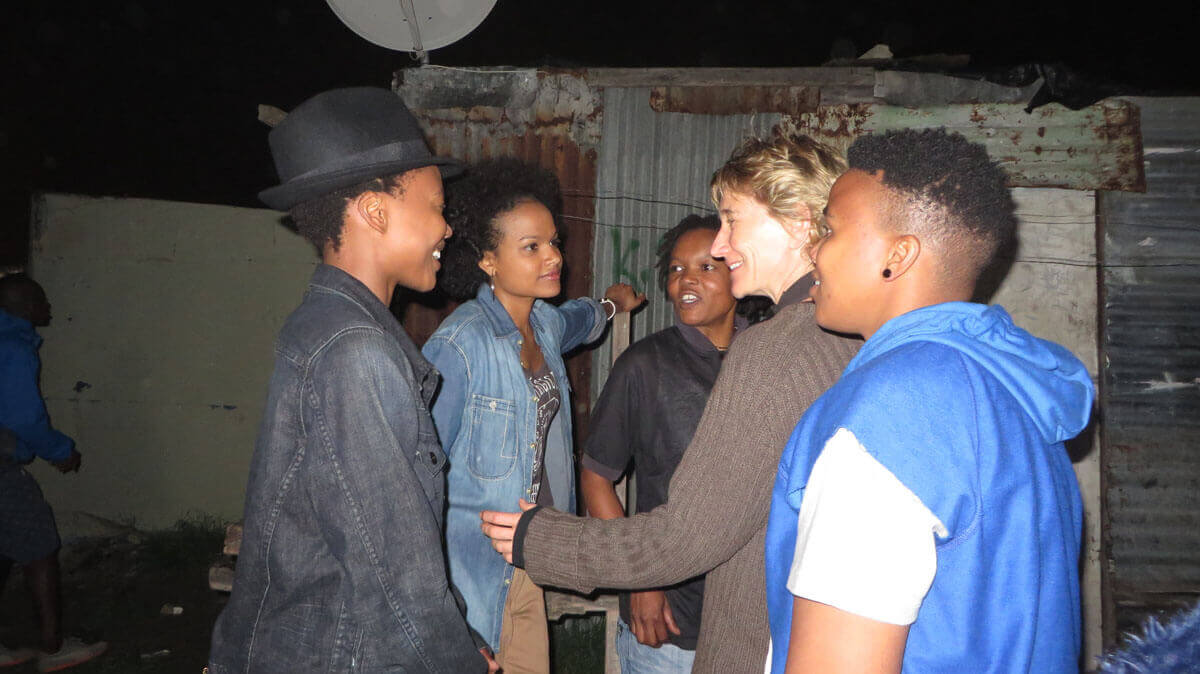 WYWL Khayalitsha Catherine Stewart with Thishiwe Zuqubu (Shado) Petronella Tshuma (Asanda) (Ntombi) Pamella (Phumzi)