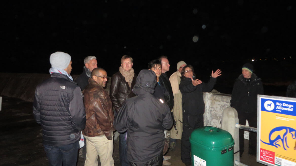 WYWL The Promenade Mack 1st AD Alport tells the extras what to do