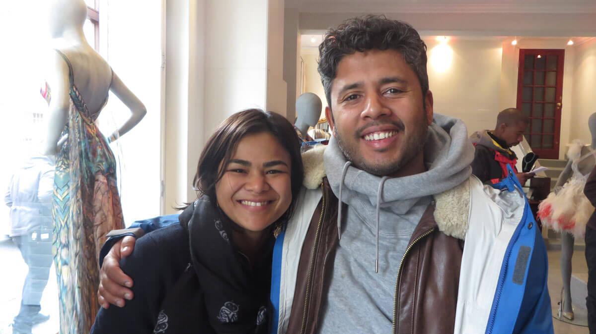 WYWL Boutique Art Dept Saadiqah Omar (props master) and Warren Gray (production designer)
