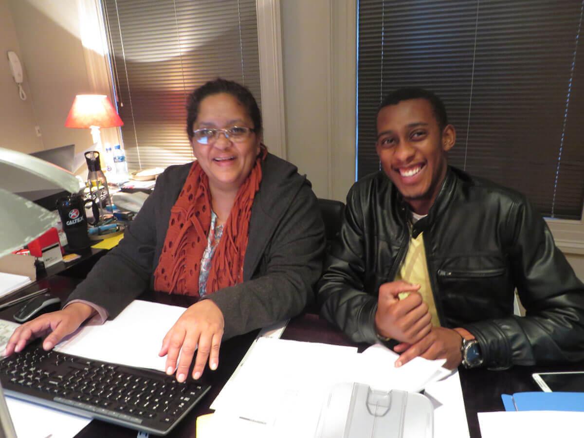 WYWL Accounts Claudia Odunlaye (key accountant) and Siviwe Faleni (trainee)