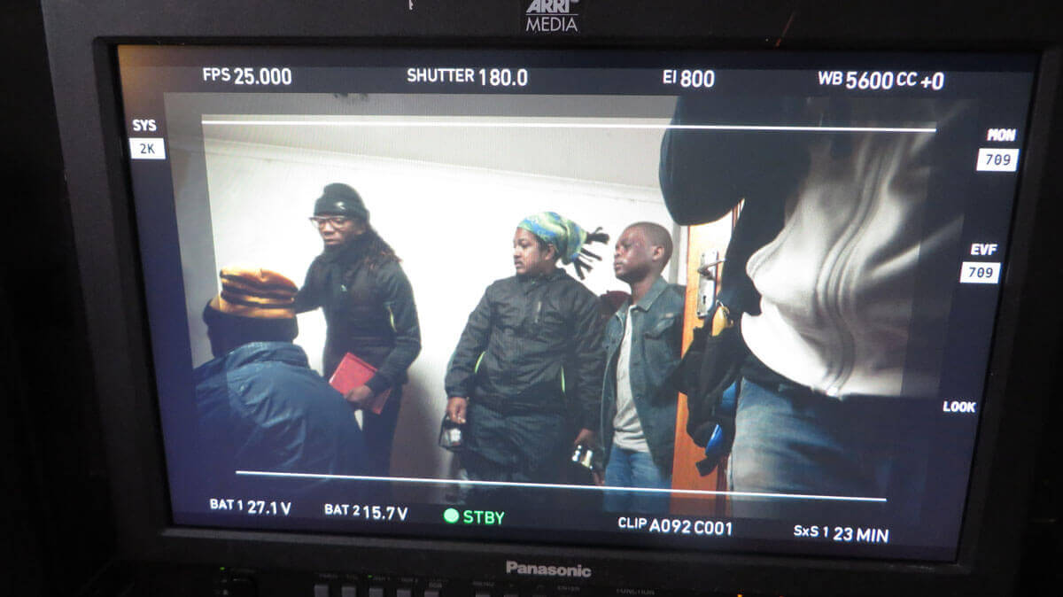 WYWL Khayalitsha Sakhumzi (2nd unit), Jeremy (wardrobe) and Othello Tyhulu (Babalo) screen shot