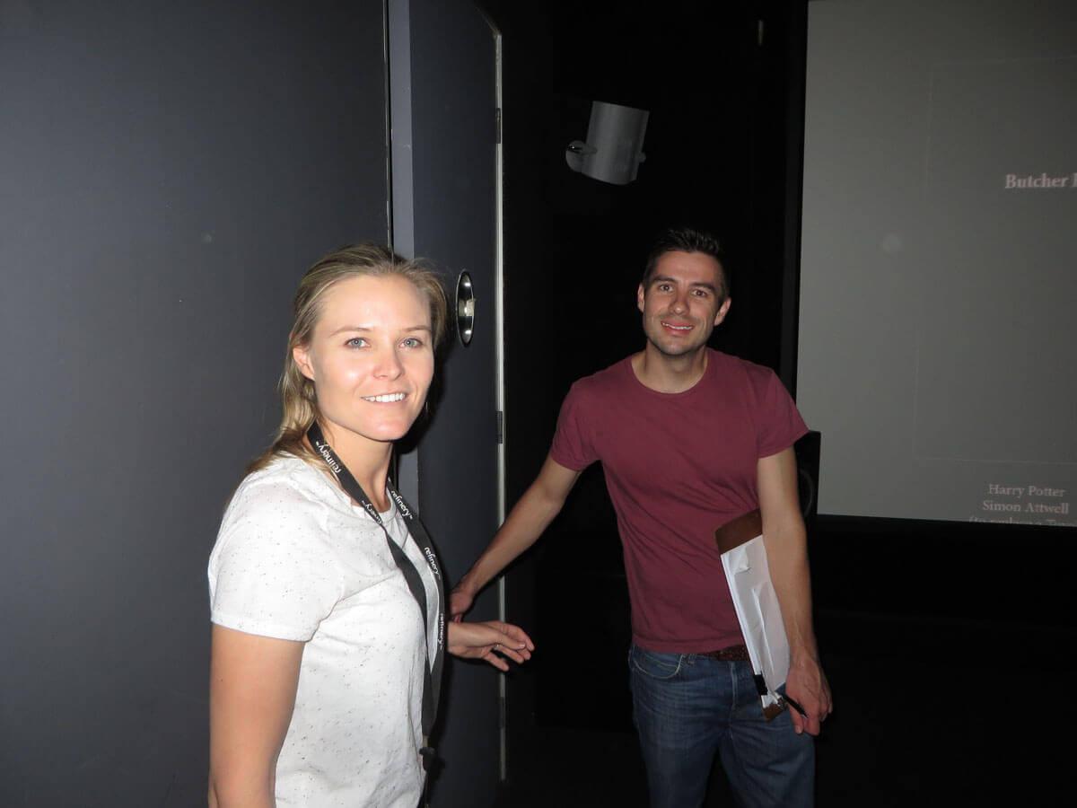 WYWL Refinery Lauren van Rensburg (Post Production) and Scott Macbeth (credit roll)