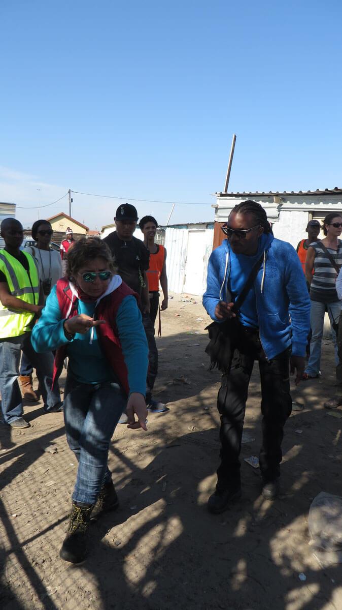 WYWL Khayalitsha Amelia Henning (cinematographer) and Sakhumzi Mati (2nd Unit Director) planning a shot